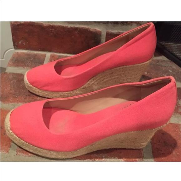 3e8576e94f4 J. Crew Shoes - J. Crew Seville Espadrille Wedges Pink Size 8.5
